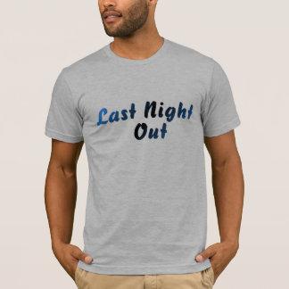 Camiseta A noite passada para fora (azul)