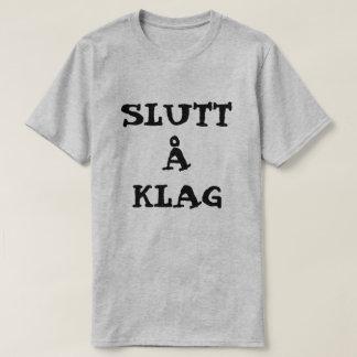 Camiseta Å norueguês Klag de Slutt do texto - pare de