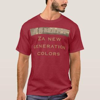 Camiseta A nova geração de Za colore o design urbano básico