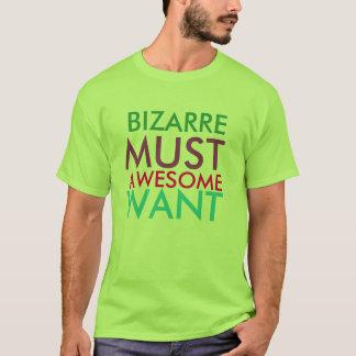 Camiseta A obrigação estranha colorida impressionante quer
