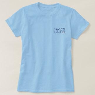 Camiseta A onda azul 2018 agarra-os nos prazos médios