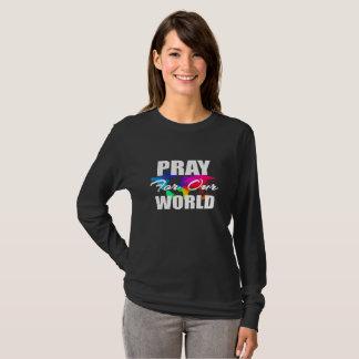 Camiseta A oração cristã do mundo da fé Pray para nosso