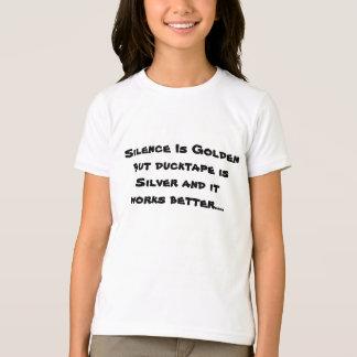 Camiseta A palavra é de prata e o silêncio é de ouro mas