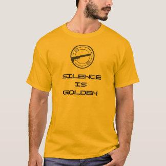 """Camiseta """"A palavra é de prata e o silêncio é de ouro"""" T da"""
