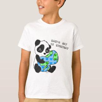 Camiseta A panda abraça a terra/earthday