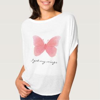 Camiseta A parte superior flowy das mulheres com a