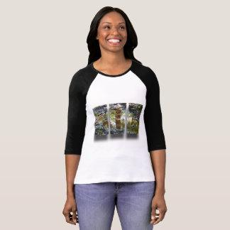 Camiseta A parte superior multicoloured das mulheres