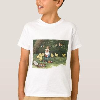 Camiseta A páscoa do duende do gnomo coloriu o pintinho