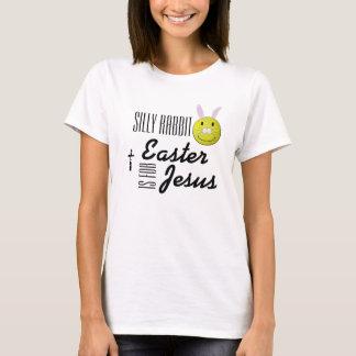 Camiseta A páscoa parva do coelho é para Jesus