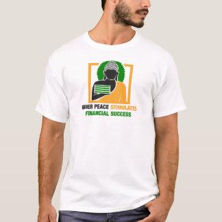 Camiseta A paz interna estimula o sucesso financeiro