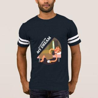 Camiseta A piada engraçada sobre a realização de objetivos
