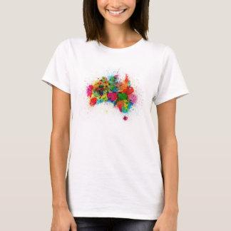 Camiseta A pintura de Austrália espirra o mapa