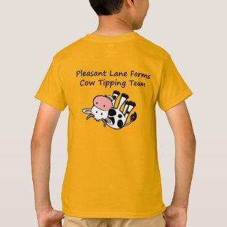 Camiseta A pista agradável cultiva a vaca que derruba a