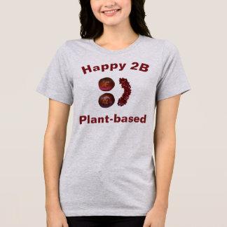 """Camiseta """"A planta 2B feliz baseou"""" o t-shirt com romã"""