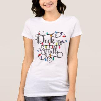 Camiseta a plataforma o feriado dos salões ilumina o Natal