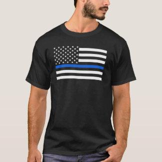 Camiseta A polícia da bandeira americana dilui Blue Line