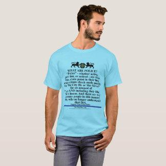 Camiseta A polícia respeita