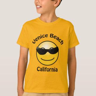 Camiseta A praia Califórnia Smilie de Veneza caçoa o