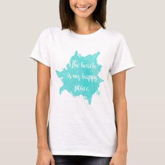 Camiseta A praia é meu lugar feliz