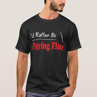 Camiseta A preferencialmente esteja jogando a flauta