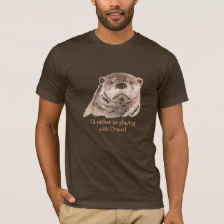 Camiseta A preferencialmente esteja jogando com lontras,