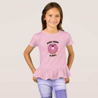 Camiseta A preocupação da rosquinha seja t-shirt feliz dos