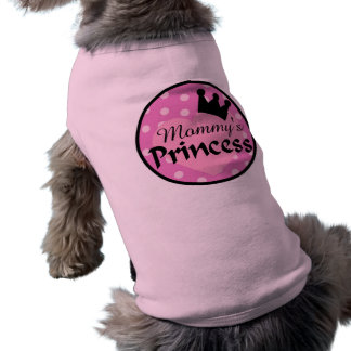 Camiseta A princesa Cão Camisola da mamã