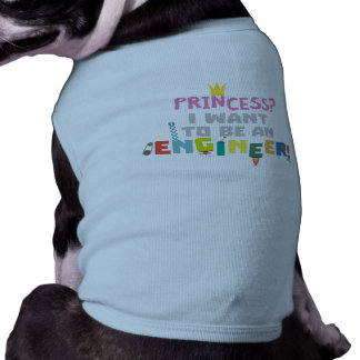 Camiseta A princesa Eu quer ser um Engnineer Z2yb2