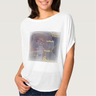 """Camiseta A princesa ODETTE """"transformou-se T de uma cisne"""""""