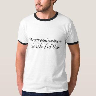 Camiseta A procrastinação é o ladrão do tempo