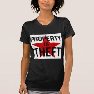 Camiseta A propriedade é roubo - comunista socialista do