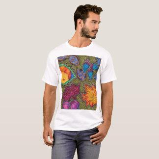 Camiseta A queda colorida do outono semeia e sae