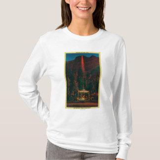 Camiseta A queda do fogo do ponto da geleira