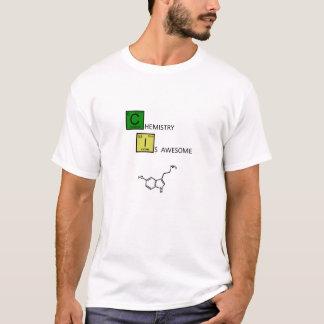 Camiseta A química é impressionante! (com molécula da