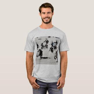 Camiseta A raça está ligada - pilotos do motocross