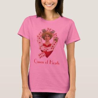 Camiseta A rainha de senhoras do coração Longo-Sleeved o