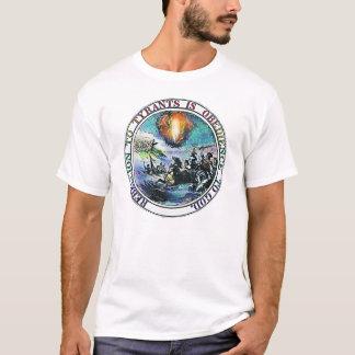 Camiseta A rebelião à tirania é obediência ao deus