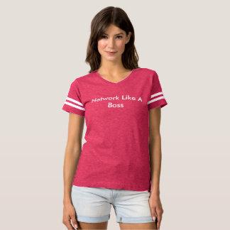 Camiseta A rede gosta de um t-shirt das mulheres do chefe