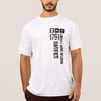 Camiseta A religião das armas da liberdade ratificou 1791