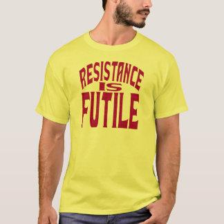 Camiseta A resistência é inútil