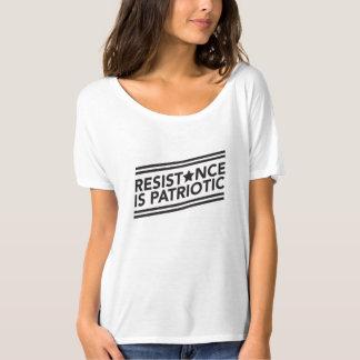 Camiseta A resistência é T Slouchy patriótico