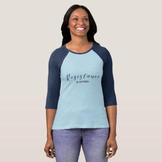 Camiseta A resistência não é t-shirt azul inútil