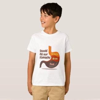 Camiseta A respiração da bebida da comida dos estômagos