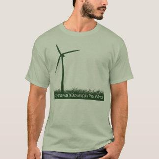 Camiseta A resposta está fundindo no vento