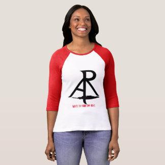 Camiseta A retórica escreve obliquamente a sua própria luva
