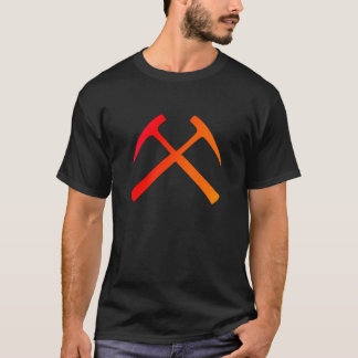 Camiseta A rocha cruzada martela o t-shirt