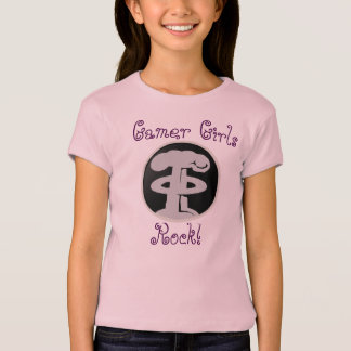 Camiseta A rocha das meninas do Gamer do jogo do aperto de