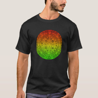 Camiseta A roda maia pelo ~ alegre de Rastafari não fala