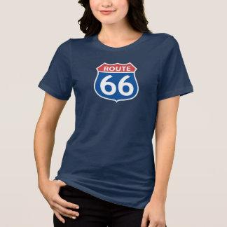 Camiseta A ROTA 66 VERMELHA, t-shirt AZUL das mulheres do