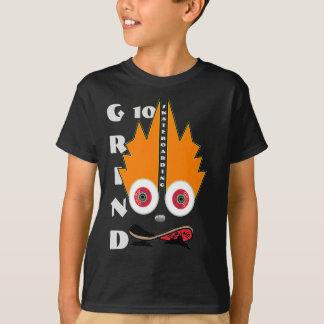Camiseta a roupa do skate da moagem ostenta o logotipo